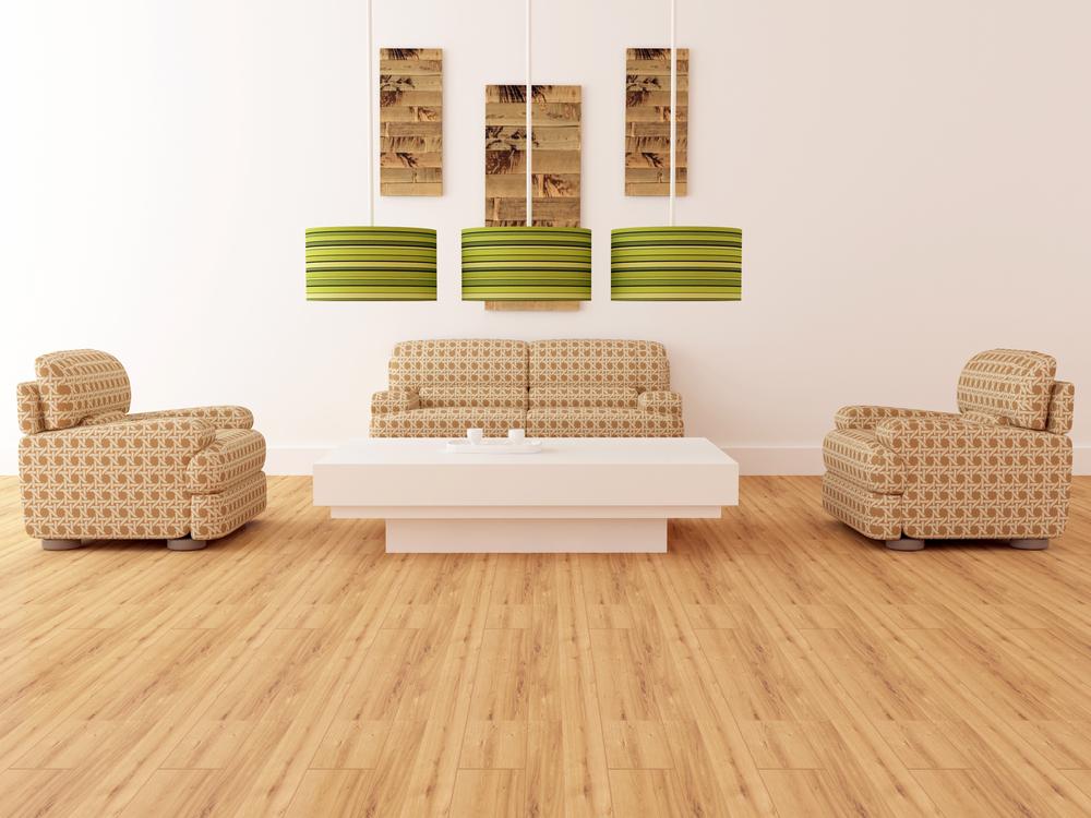 parquet en bambou dans un salon