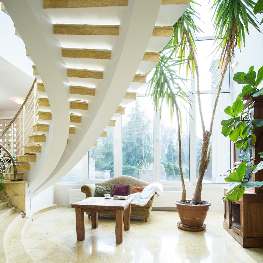 Escalier débillardé d'intérieur