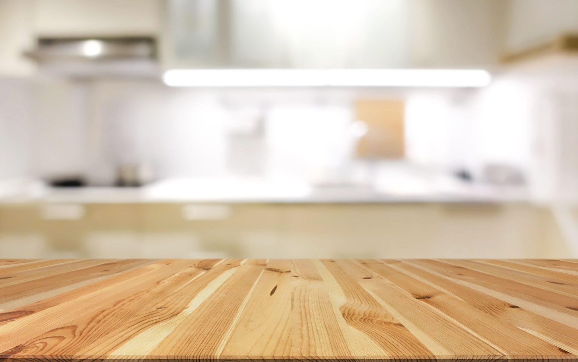 plan de travail en bois pour cuisine