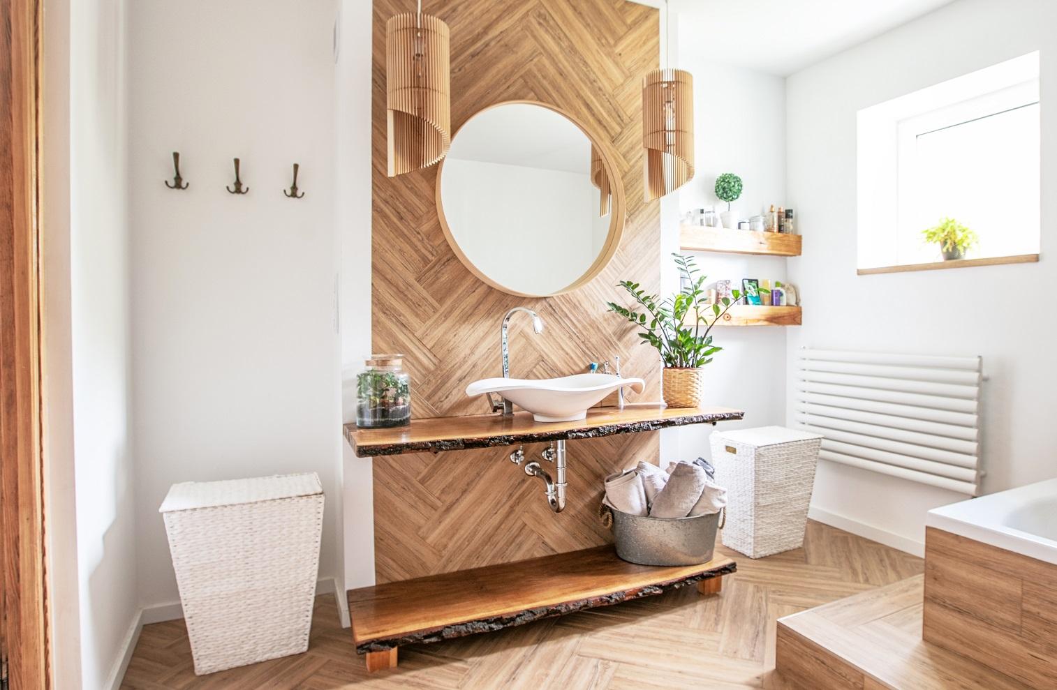 Meubles bois salle de bain